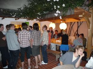 Beer Garden at Vienna´s Best Hostel Ruthensteiner!