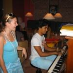 Wonderful tuned Piano and many Scores for your Favourite Songs