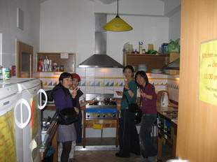 Free Guest Kitchen at the Hostel - Asian Guests