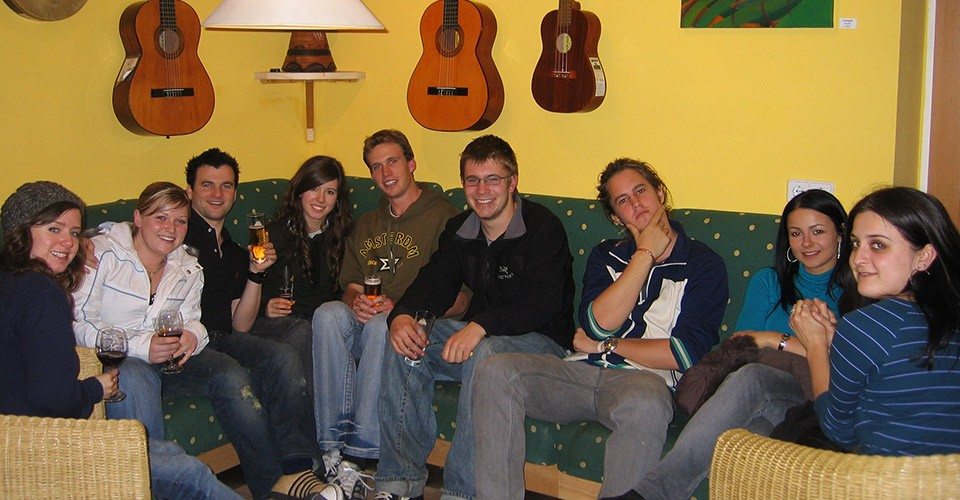 Interesting People in Vienna Hostel. Have lot's of fun meeting new people!